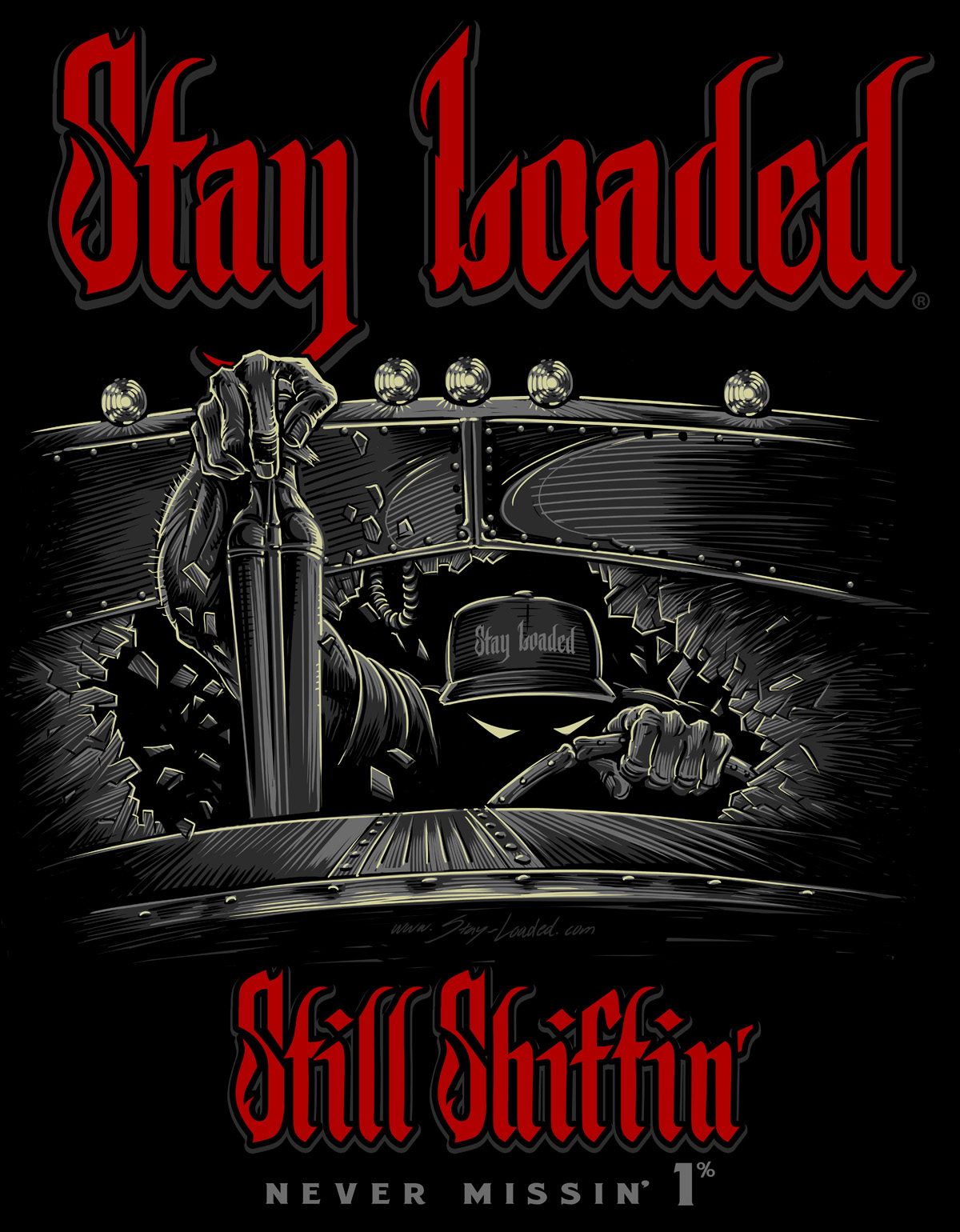 Stay Loaded Still Shiftin' Reaper T-Shirt