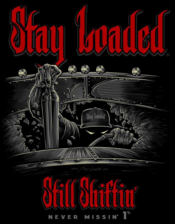 Chevy T Shirts >> Stay Loaded Still Shiftin' Reaper T-Shirt